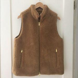 J Crew brown vest size medium